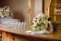 Large bouquet on the bar Royalty Free Stock Images