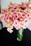 Large bouquet of lisianthus. stock photos