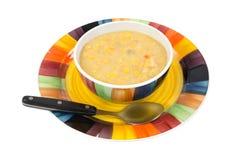Large bowl of corn chowder Royalty Free Stock Photo