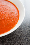 A large bowl of delicious tomato soup Stock Photography