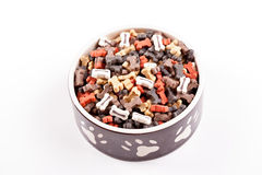 Large bowl of dog food Royalty Free Stock Photo