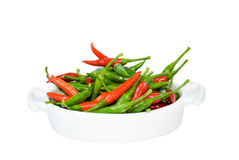 Large bowl with hot peppers Royalty Free Stock Photos