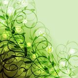 Large branches on a green background Royalty Free Stock Image