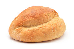 Large bread on white Royalty Free Stock Images