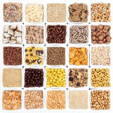 Large Breakfast Cereal Selection Royalty Free Stock Photography