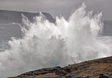 Large breaking wave Stock Photo