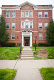 Large Brick Apartment Building Stock Photo