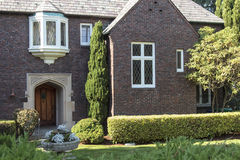 Large brick construction home Seattle WA. Royalty Free Stock Photos