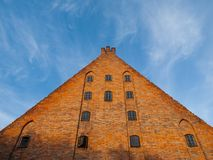 Large brick gable of Gdansk Little Mill Royalty Free Stock Photography