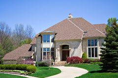 Large Brick Home royalty free stock images
