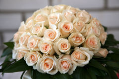 Large Bridal bouquet of white roses Stock Photography