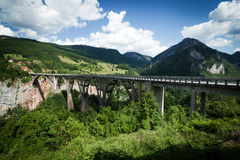 Large Bridge. Bridge over Tara river, Montenegro Stock Image