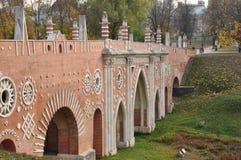 The large bridge across the ravine. Royalty Free Stock Photography