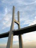 Large bridge detail in Lisbon Stock Images