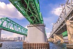 Large bridge highway over the river in Seoul, Korea Stock Photo