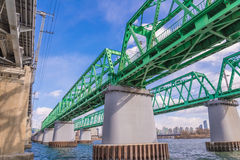 Large bridge highway over the river in Seoul, Korea Stock Images