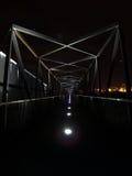 Large Bridge at Night. Nightshot of a large bridge at Aveiro royalty free stock photography