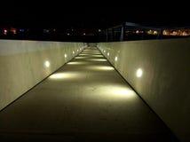 Large Bridge at Night. Nightshot of a large bridge at Aveiro's University stock photo