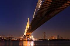 Large bridge over Chao Phraya river Stock Photos