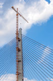 Large bridge pylon construction Royalty Free Stock Photo