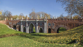 Large Bridge in Tsaritsyno Stock Photos