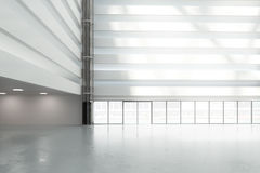Large, bright hall in the business center Royalty Free Stock Photos