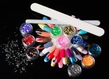 large bright manicure set Royalty Free Stock Photography