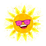 Large bright yellow sun Stock Images