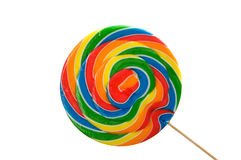 A large brightly colored lollipop stock photography