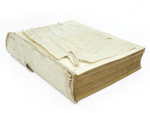 Large broken book with ton pages Royalty Free Stock Photos