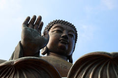 Large bronze buddha statue Royalty Free Stock Photography
