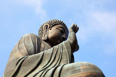Large bronze buddha statue Stock Photo