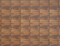 Free Large Brown Aluminium Square Tiles With Wood Effect  For Modern Ventilated Building Facade Stock Photo - 145079750
