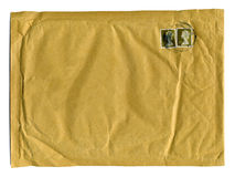 Large brown envelope with first class stamps Stock Image