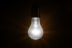 Large brushed electric incandescent lamp Royalty Free Stock Images