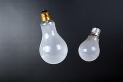 Large brushed electric incandescent lamps Stock Photo