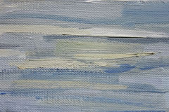 Large brushstrokes of blue oil paint on canvas. Art background. Stock Photos