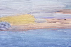 Large brushstrokes of blue oil paint on canvas. Art background. Royalty Free Stock Photo