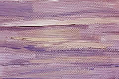 Large brushstrokes of violet oil paint on canvas. Art background. Stock Photos