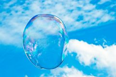 A large bubble floats in the sky royalty free stock image
