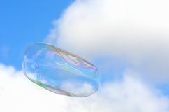 Large Bubble with sky Royalty Free Stock Photography