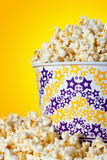 Large bucket of popcorn Stock Images