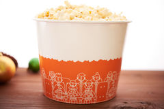 A large bucket of popcorn Stock Photography