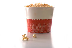 A large bucket of popcorn Stock Photos