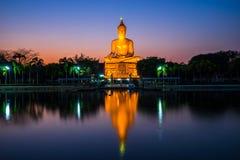 Large Buddha Image Statue with reflection Royalty Free Stock Image