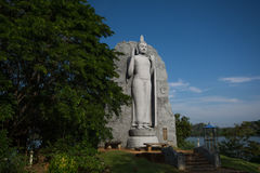Large Buddha statue at Giritale Lake. Giritale Wewa in North Central Province, Cultural Triangle, Sri Lanka, Asia. This is a photo of a  Giritale Wewa in North stock image