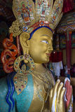 Large Buddha Statue inside a temple, Ladakh Stock Images