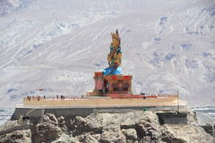Large Buddha Statue in Ladakh. Stock Photos