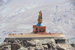 Large Buddha Statue in Ladakh. Stock Photos