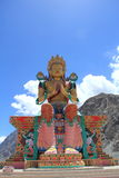 Large Buddha Statue in Ladakh. Royalty Free Stock Photos